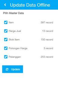 Pilih Data yang akan didownload, lalu klik Update